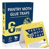 WGCC Pantry Moth Traps 6-Pack - Safe Non-Toxic