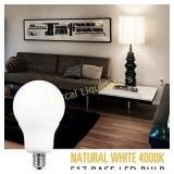 6 Pack 6w LED Light Bulbs E17 Base. 600 Lumen