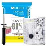 SUOCO Space Saver Bags  3 Large) Vacuum Storage