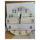 12 INCH BATTERY OPERATED WALL CLOCK NEW