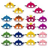 20Pcs Little Shark Felt Mask Children