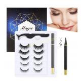 Magic Eyelashes with Eyeliner Kit - 5 Pairs