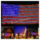 Twinkle Star 390 LED American Flag String Lights