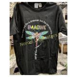 LENNON IMAGINE DRAGON FLY T-SHIRT NEW SZ M