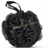 Shower Puff 4 Pack Black Bath Sponge Shower