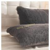 LIFEREVO 2 Pack Shaggy Plush Faux Fur Decorative