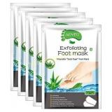 Aliver Foot Peel Mask 4 Pack, Exfoliating Foot