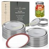 48-Count Regular Mouth Canning Lids, Mason