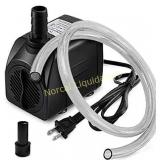 PULACO 10W 160GPH Submersible Pump with 3.3 ft