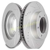 Scitoo Brakes Rotors 2pcs Front Drilled Slotted