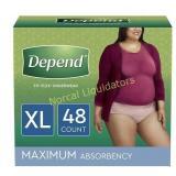 Depend FIT-FLEX Incontinence Underwear for Women,