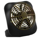 O2COOL 5-Inch Portable Volcano Fan, Khaki LOOKS