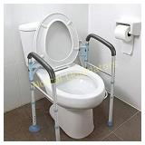 OasisSpace Stand Alone Toilet Safety Rail - Heavy