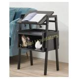 **Emall Life Bedside Table With Power Outlet 3