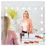 FENCHILIN Large Vanity Mirror with Lights,