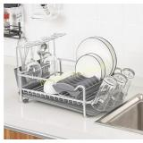 Glotoch Aluminum Dish Drying Rack with Expandable