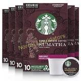 60 Starbucks Sumatra Keurig Pods, Dark Roast