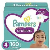 Diapers Size 4, 160 Count - Pampers Cruisers