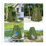 Pop up privacy tent for shower, portable potty,