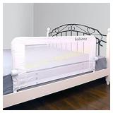KOOLDOO 43 Inches Baby Bed Rail Fold Down Safety