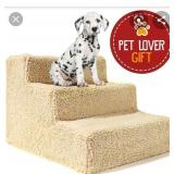 Dog Stairs For High Bed Pet 3 Steps Ramp Ladder