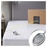 HYDE LANE Quilted Cotton Heated Mattress Pad Twin