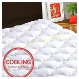 TEXARTIST Mattress Pad Cover Queen, Cooling