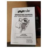 Rule G2000 portable winch. It has compression we