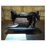 Adler brand model 187 sewing machine. Unit