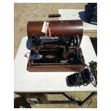 Singer brand BT7 sewing machine with case. Serial
