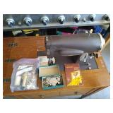 Sears Kenmore sewing machine with sewing table.