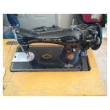 Singer sewing machine with sewing table,