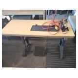 Sewing machine testing table. Unit includes