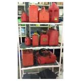 Collection of Gas Cans K9B