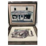 Two Piece Signed Vintage-Living Art Q15E