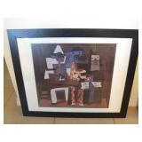 Picasso Framed Poster &Two Picasso Books U10C
