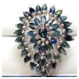 Sterling Silver Sapphire Ring SJC