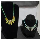 Green & Turquoise Sea Sediment Necklaces SJC