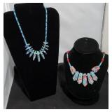 Turquoise Blue Pink & Sea Blue Necklaces SJC
