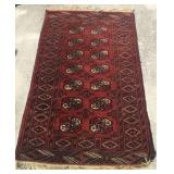 "Antique Turkoman Rug 38"" x 66"" U8C"