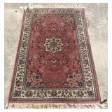"""Vintage Handmade Oriental Rug 51"""" x 32"""" U8C"""