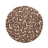 NEW Leopard Print Round Rug P9C