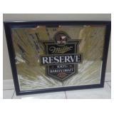 Miller Reserve 100% Barley Draft Beer Mirror Y15E