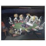 Dogs Playing Poker Shadow Box (3-D Art) U15E