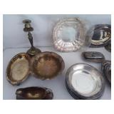 Large Lot Of Silverplate Serving Pieces U9B