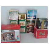 Large Lot Of Christmas Houses/Figures U9C