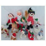 Collection of (11) Annalee X-mas Dolls U10B