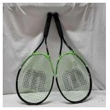 2 Advantage XL Wilson Tennis Rackets X8C