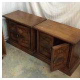 Pair of Side Tables with Storage K3C