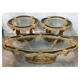 Glass and Marble Occasional Tables K3A